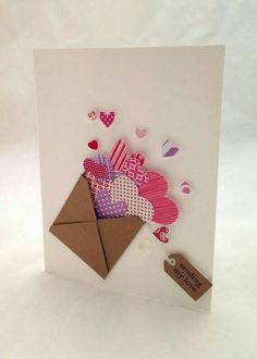 'Will you be my Valentine?' The best way to deliver this message is through one of the lovely Valentines Day cards. Diy Valentines Cards, Valentine Day Crafts, Printable Valentine, Homemade Valentines, Valentine Ideas, Love Cards, Diy Cards, Scrapbooking Original, Tarjetas Diy