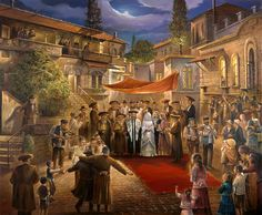 Jewish wedding scene, one of my favorite collectibles...