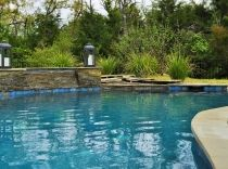 Custom Lagoon Pool with Spa and Waterfall