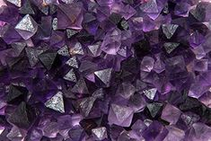 Fantasia Materials: NEW FIND - 3 lbs Natural Unpolished Purple Fluorite Octahedron Crystals from China - Raw Natural Crystals for Cabbing, Cutting, Tumbling, Polishing, Wire Wrapping, Wicca