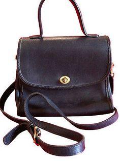 Coach Legacy Navy Blue Leather Crossbody Satchel Messenger Bag Purse Vtg court