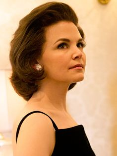"The National Geographic Channel just released the image, which shows ""Once Upon A Time"" star Ginnifer Goodwin as the one and only Jacqueline Kennedy Onassis. Here, the 35-year-old actress dons one of Jackie's many iconic looks: a simple LBD, white pearl earrings, and her signature bouffant. She's starring alongside Rob Lowe, 49, as John F. Kennedy in ""Killing Kennedy,"" which is set to air this November."