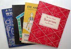 Set of 4 Vintage School Workbooks/Primers (1940 - 1970s) - Vintage School Books