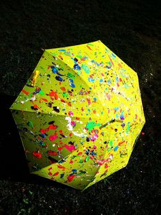 Inspiring image art, cute, paint, umbrella - Resolution - Find the image to your taste Umbrella Painting, Neon Painting, Spring Projects, Art Projects, Umbrella Lights, Umbrellas Parasols, Under My Umbrella, Diy Weihnachten, Paint Splatter
