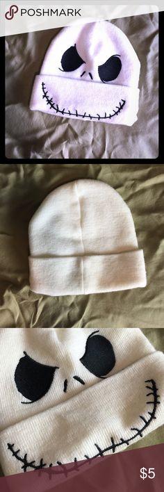 Jack skellington hat! Super cute jack skellington beanie! Hot Topic Accessories Hats