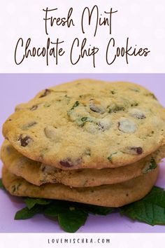 Soft, chewy, and refreshing, these Fresh Mint Chocolate Chip Cookies are an easy, quick, delicious way to bake with fresh mint from your garden or enjoy an interesting take on classic chewy chocolate cookies. #bakingwithfreshmint #chewymintchocolatechipcookies #freshmintrecipes Mint Recipes, Summer Recipes, Easy Recipes, Delicious Cookie Recipes, Baking Recipes, Mint Chocolate Chip Cookies, Chocolate Cupcakes, Incredible Recipes, Best Food Ever