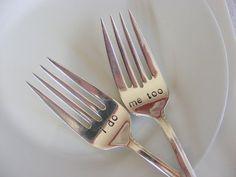I do me too wedding cake forks