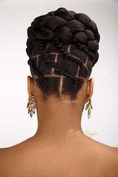BN Bridal Beauty: International Bridal Hair Specialist, Dionne Smith presents Elegant Evening Bridal Hair Inspiration with a Twist! click now for more info. Natural Cornrow Hairstyles, Protective Hairstyles For Natural Hair, Natural Hair Braids, African Braids Hairstyles, Twist Hairstyles, Black Hairstyles, Pixie Hairstyles, Natural Updo, Beautiful Hairstyles