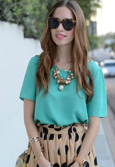 Tiffany blue and dots! Love fashion? Join www.wantering.com