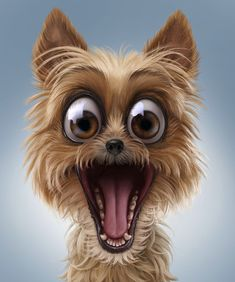 Funny pins, dog expressions, animals and pets, cute animals, dog illustrati Cute Funny Animals, Funny Animal Pictures, Cute Baby Animals, Animals Dog, Cartoon Kunst, Cartoon Art, Puppy Clipart, Dog Expressions, Funny Caricatures