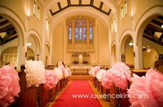 tissue-paper-flowers-church-pew-decor