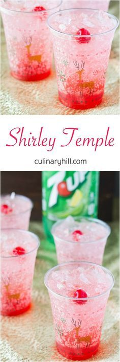 Shirley Temples are the ultimate kiddie cocktail! Great for holiday parties with… Shirley Temples are the ultimate kiddie cocktail! Great for holiday parties with family, expectant mothers, or designated drivers! Christmas Drinks Alcohol, Holiday Drinks, Holiday Recipes, Holiday Parties, Party Recipes, Christmas Mocktails, Party Drinks Alcohol, Dessert Recipes, Non Alcoholic Drinks For Party