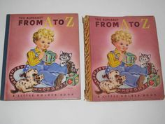 1943 Little Golden Book The Alphabet From A to Z w/ Dust Jacket ~ 4th Printing ~ $48.00