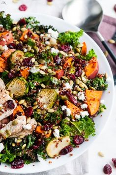 Roasted Brussel Sprout and Yam Quinoa Salad - Aberdeen's Kitchen