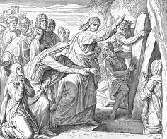 Bilder der Bibel - Auferweckung des Lazarus - Julius Schnorr von Carolsfeld