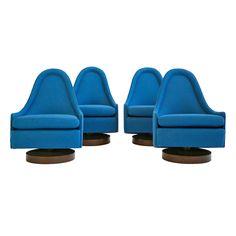 Four Milo Baughman Swivel Lounge Chairs for Thayer Coggin ca.1970