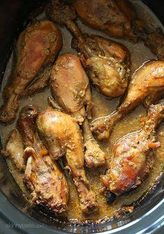 Crock Pot Maple Dijon Chicken Drumsticks | Skinnytaste Try with garlic powder instead of garlic salt to lower sodium