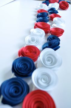Patriotic Garland Red, White, Blue Garland, Fourth of July Decoration Fourth Of July Decor, Happy Fourth Of July, 4th Of July Celebration, 4th Of July Party, July 4th, Patriotic Party, Patriotic Decorations, July Birthday, Holidays And Events