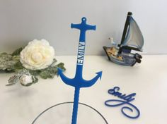 Anchor Drink Stirrers Personalized anchor by FranJohnsonHouse
