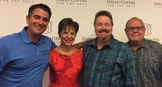 Michael Scafuto, Lynn Dickerson CEO of Gallo Center for the Arts, Terry Fator, and. Company News, Plays, Entertainment, Group, Art, Games, Art Background, Kunst, Performing Arts