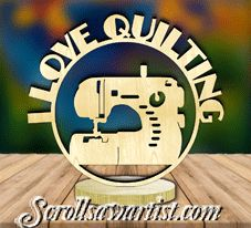 Scroll Saw Patterns :: Plaques :: Freestanding word plaques :: Freestanding word plaque - I love quilting Scroll Saw Patterns, Wood Crafts, Quilts, My Love, Quilt Sets, Wood Turning, Quilt, Woodwork, Woodworking Projects