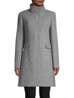 Calvin Klein Wool-Blend Topper Coat   TheBay