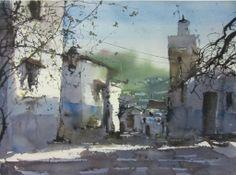 Pedro Orozco Tristán Watercolor Canvas, Watercolor Drawing, Watercolor Artists, Watercolor Landscape, Landscape Art, Painting & Drawing, Watercolor Paintings, Watercolors, Landscape Paintings