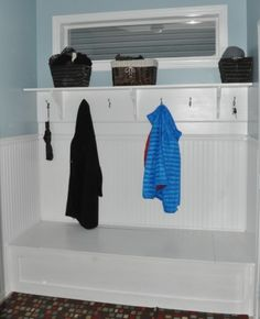 Mudroom Bench Built-In | Do It Yourself Home Projects from Ana White