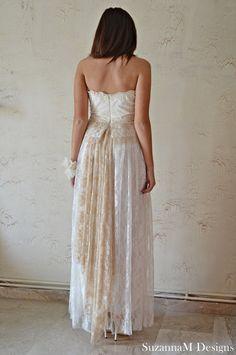bohemian wedding dresses   Home » Wedding Dresses » white lacen bohemian wedding dress maxi by ...