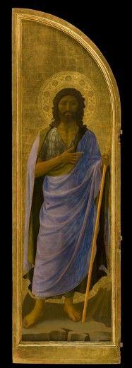 """BEATO ANGELICO - Il Battista, protettore di Firenze, dettaglio """"Tabernacolo dei Linaioli"""" - 1432-1433 - Museo nazionale di San Marco di Firenze"""
