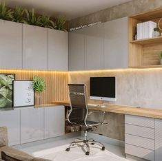 Modern Home Office Design Home Office Space, Small Office, Home Office Decor, Study Room Design, Small Room Design, Office Interior Design, Office Interiors, Exterior Design, Modern Home Offices