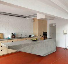 Küche Mit Betoninsel Im Modernen Stil   42 Designs
