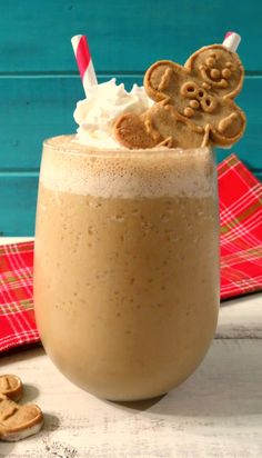 Gingerbread Smoothie: 1½ cups coconut milk from carton or milk of choice 1 small banana, frozen ¼ tsp. nutmeg ½ tsp. cinnamon ½ tsp. ginger, ground ⅛ tsp. cloves, ground 1tsp. vanilla extract 1 tbsp. molasses ¼ tsp. stevia or sugar to taste 1 cup ice