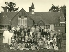 Displaying School_Great Witley_Headmaster Salmon and students_1950s.jpg