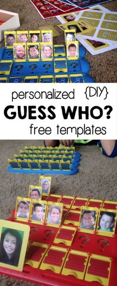 DIY Guess Who Template Free Printables – Paper Trail Design DIY Guess Who Template free printable. Use these free printable Guess Who templates to make your own personalized Guess Who game of your family. Family Game Night, Family Games, Night Kids, Game Night Parties, Diy Recycling, Board Games For Kids, Diy Board Game, Templates Printable Free, Free Printables