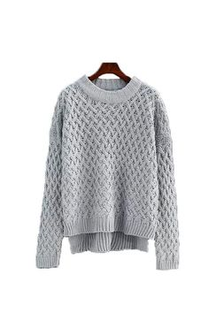 'Tangela' Criss Cross Knitted Sweater ( 4 Colors )