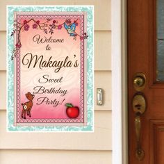 Sweet Forest Princess Personalized Door Greeter
