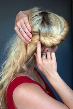 twisted around head hairstyle