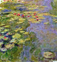 World Art Masterpieces: Claude Monet Paintings - AmO Images - AmO Images Pond Painting, Lily Painting, Garden Painting, Painting Canvas, Canvas Art, Claude Monet, Monet Paintings, Impressionist Paintings, Flower Paintings