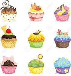 immagini di cupcake disegni - Cerca con Google