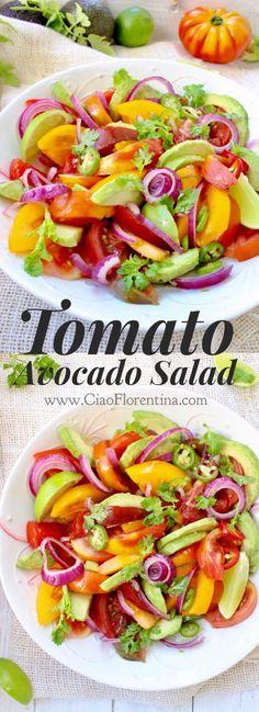 Tomato Avocado Salad Recipe | CiaoFlorentina.com @CiaoFlorentina