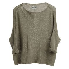 Tron Knit Sweater Khakigree - Weekday ❤ liked on Polyvore featuring tops, sweaters, shirts, jumpers, shirt sweater, knit sweater, knit tops, brown knit sweater and knit shirt