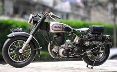 诺顿摩托车模型 复古铁皮车模型 手工铁皮模型 仿古家居装饰礼品-淘宝网