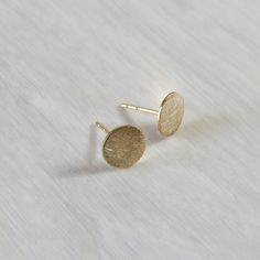 Gold studs earrings gold filled round studs gold by miniLALI