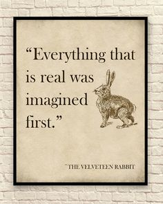 Velveteen Rabbit Wall Art Velveteen Rabbit Art Print Nursery