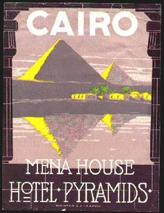 mena house hotel cairo egypt luggage label by Richt