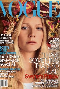 Vogue, October 2005 #cover | Gwyneth Paltrow by Mario Testino...I still have mine!  Instead of the crazy cat lady im the crazy fashion magazine lady!! haha