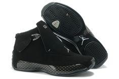 sports shoes 45a4a 150b4 Authentic Cheap Air Jordan 18 Cool Authentic Cheap Air Jordan 18 (XVIII)  All Black