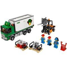 Lego Cargo Truck for sale online Lego City, Cool Car Gadgets, Lego Truck, Lego Group, Custom Lego, New Trucks, Heart For Kids, Lego Friends, Creative Play