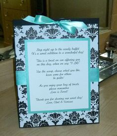 Custom Candy Buffet Poem by Everlasting Moment, via Flickr